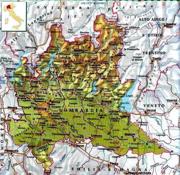 La Lombardia Cartina Fisica.Documento Senza Titolo