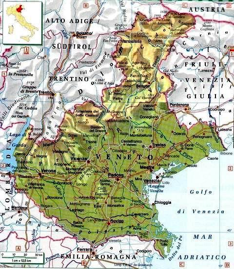 Veneto Regione Cartina.Documento Senza Titolo