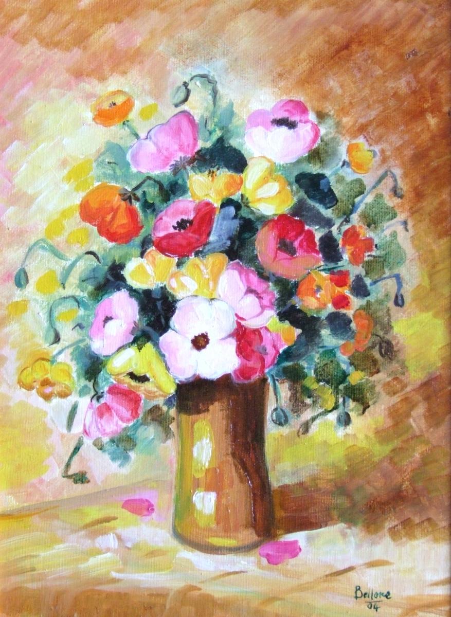 Mariarosaria bellone dipinti colori emozioni for Vasi di fiori dipinti