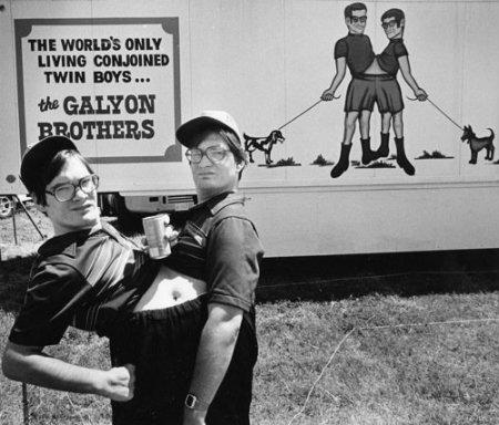 fratelli Gaylon, circo, fenomeni