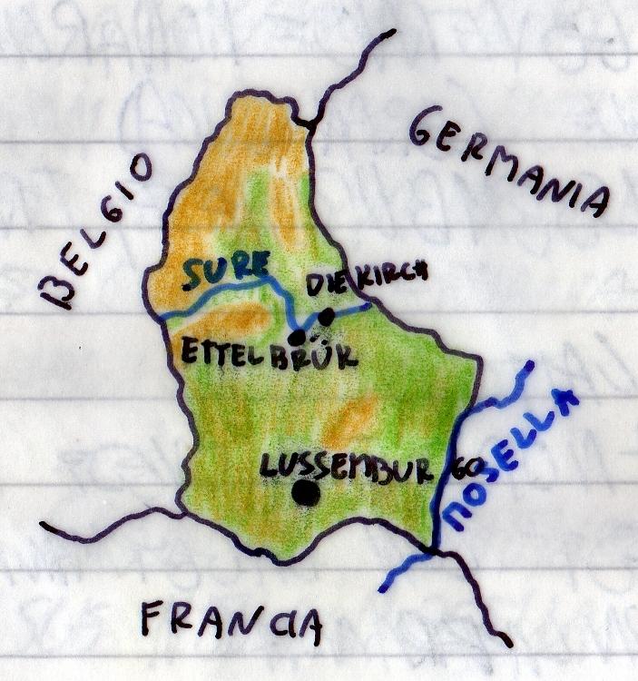 Territorio Lussemburgo Cartina Fisica.Lussemburgo