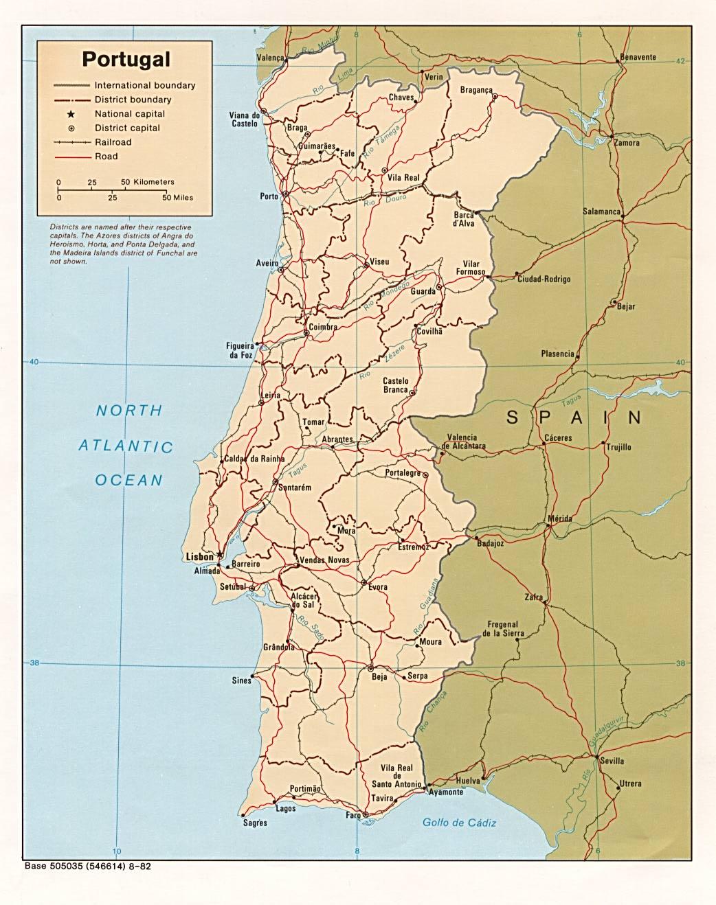 Cartina Politica Portogallo Con Regioni.Portogallo
