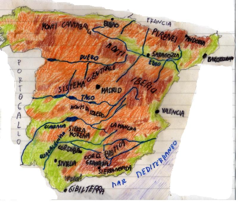 Cartina Fiumi Spagna.Spagna