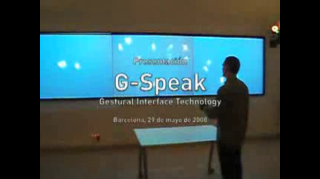 G-Speak: Gesture Interface Technology