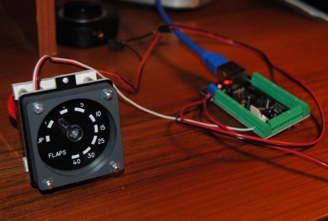 Flaps Gauge on Electronic Control Module