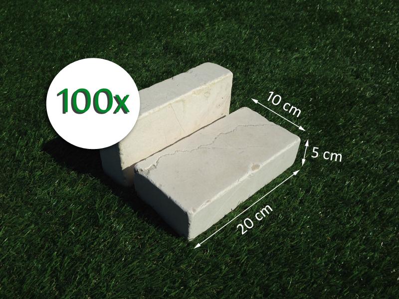 100 mattoni in pietra di trani 20x10x5cm blocchi per for Mattoni per aiuole