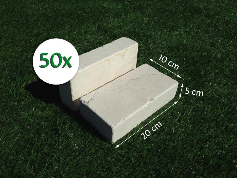 50 mattoni in pietra di trani 20x10x5cm blocchi per for Mattoni per aiuole