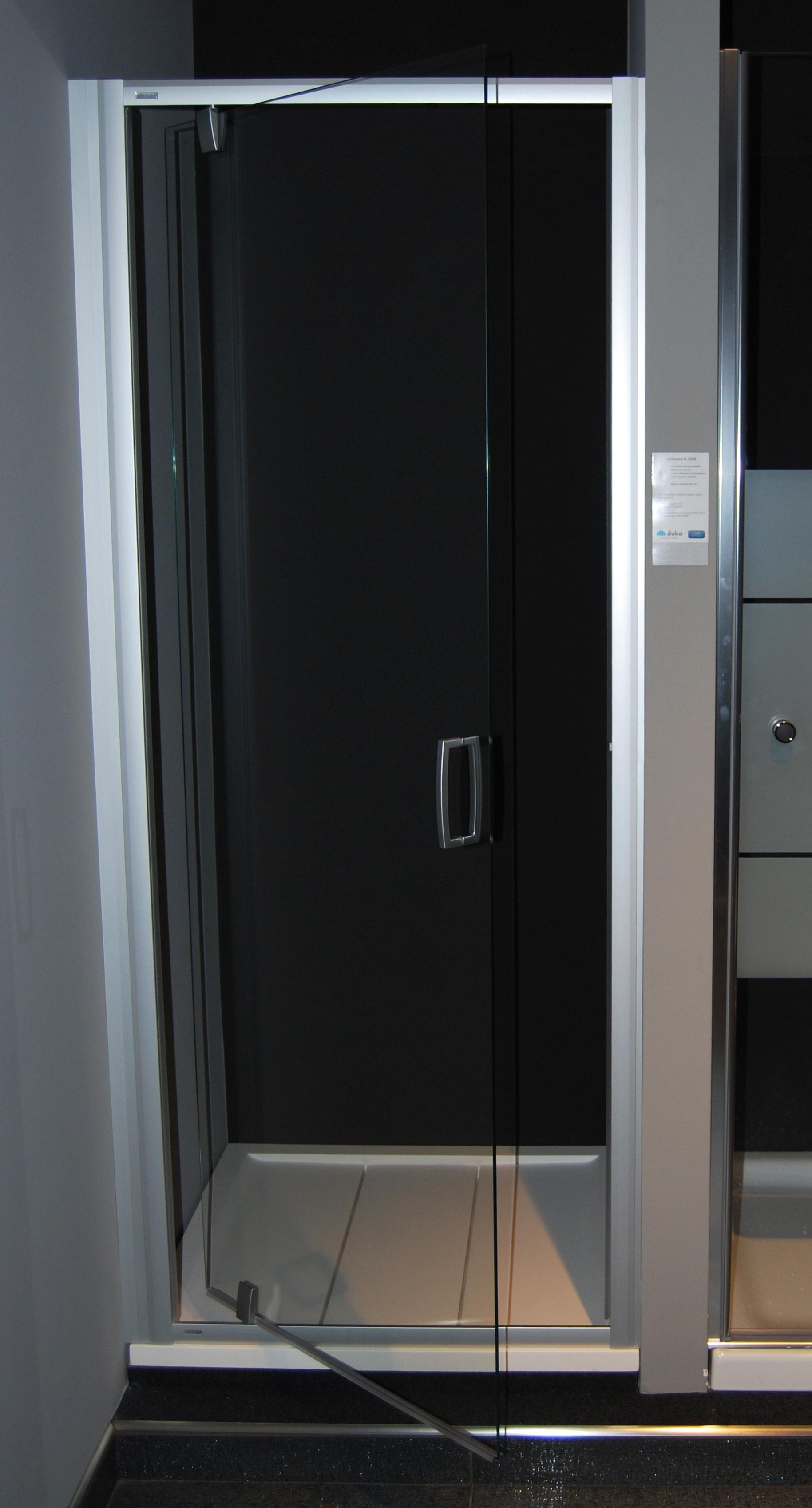 Box Doccia Porta Girevole Bagno Nuovo Da Esposizione 80 Cm Duka