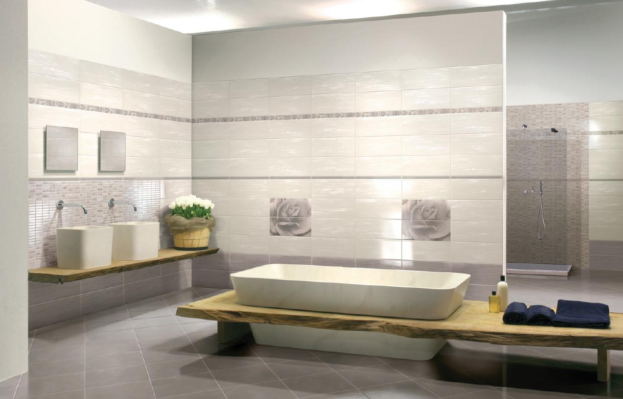 Piastrelle da bagno pavimento rivestimento ceramica moderno edon tortora avorio ebay - Pavimento e rivestimento bagno uguale ...