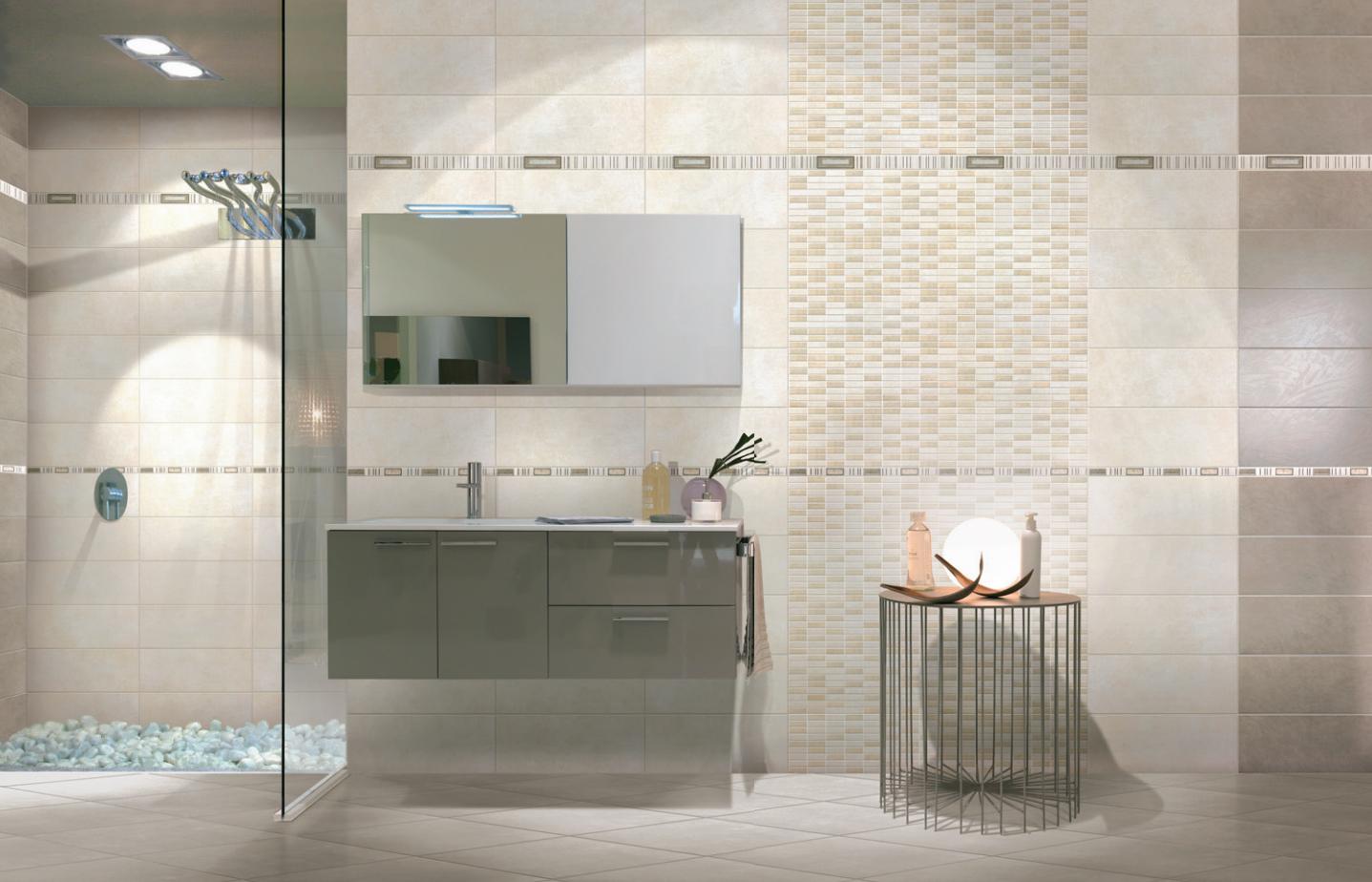 Piastrelle ceramica pavimento rivestimento bagno moderno regina azzurro e avorio ebay - Bagni piastrelle moderne ...