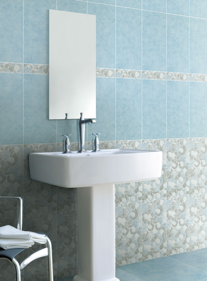 Piastrelle bagno casa pavimento rivestimento gres ceramica fiordo tresor azzurro ebay - Piastrelle pietra bagno ...
