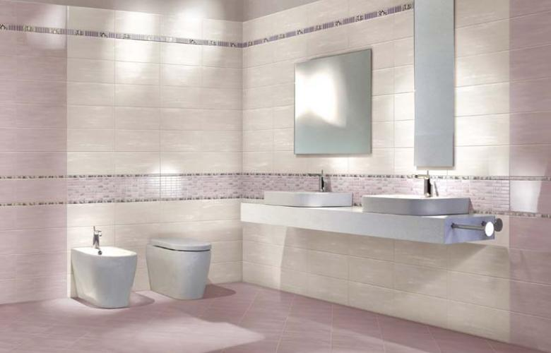 Piastrelle ceramica pavimento rivestimento bagno lilla rosa edonè
