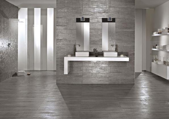 Piastrelle gres porcellanato effetto legno metallo tagina - Incollare piastrelle su legno ...