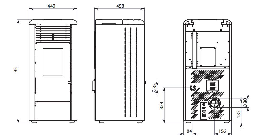 Stufa a pellet ravelli r 70 7 kw ventilata aria calda - Art 16 bis tuir causale bonifico ...