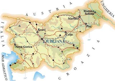 Cartina Slovenia Stradale.Slovenia