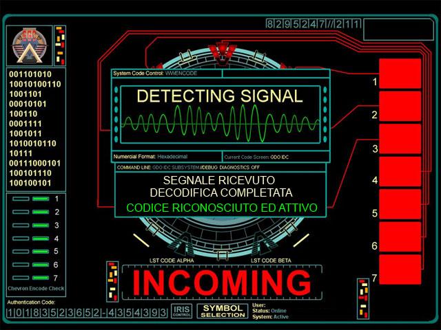 Stargate ricezione segnale gdo