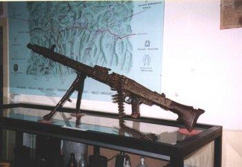 Reperti bellici - mitragliatrice