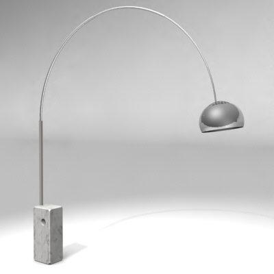 Neuf Lampe Arco Flos Castiglioni Design Original Italie Ebay