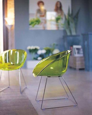 Pedrali set da 2 sedie gliss 921 poltroncina trasparente for Sedie design ebay