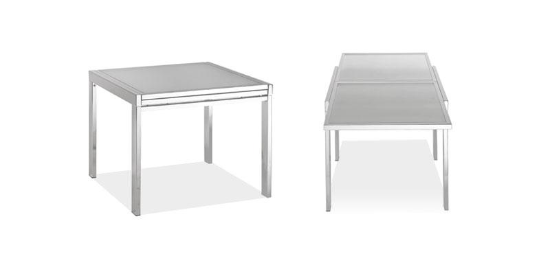 tavolo 90x90 allungabile : Tavolo allungabile con struttura in tubo dacciaio 30x30mm
