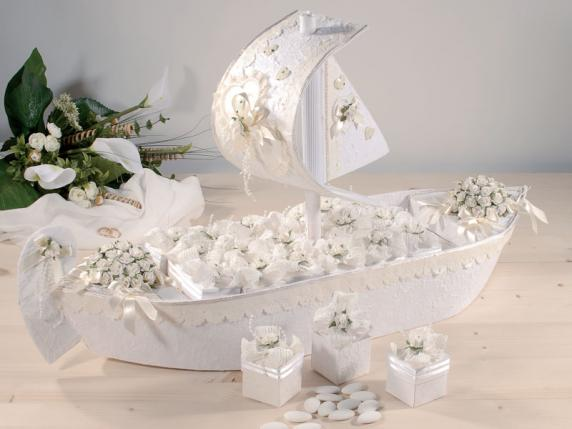 Matrimonio Tema Brillantini : Pz scatolina porta confetti fiore carta bianco
