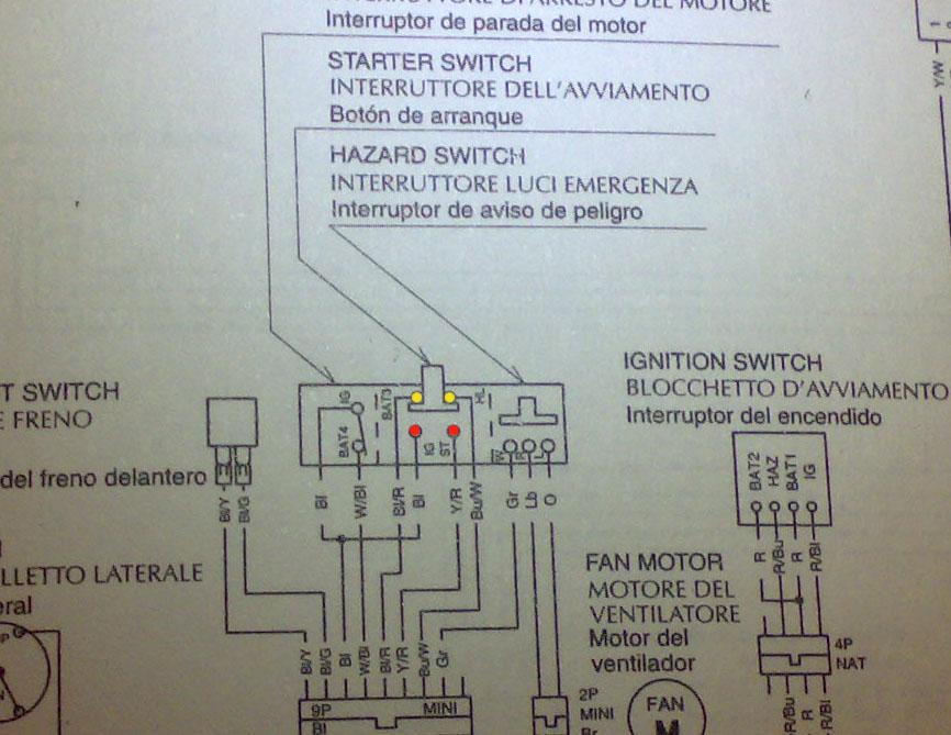Schema Elettrico Honda Shadow 600 : Schema elettrico beta rr impianto distribuzione