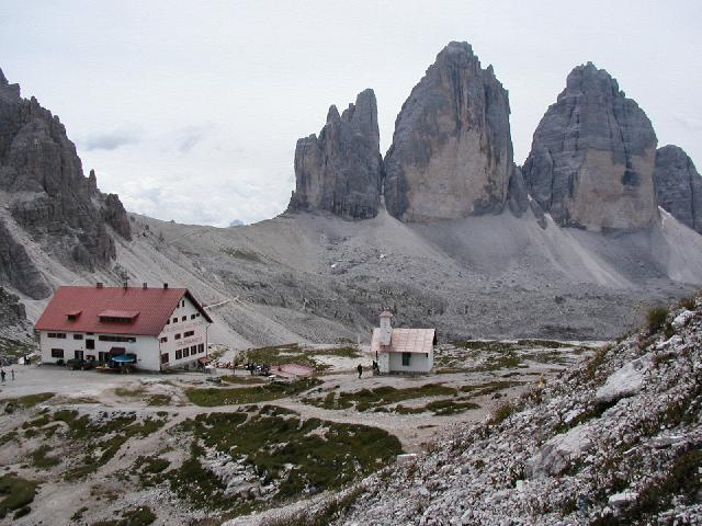 Le Tre Cime viste dal Rifugio Locatelli (digilander.libero.it)