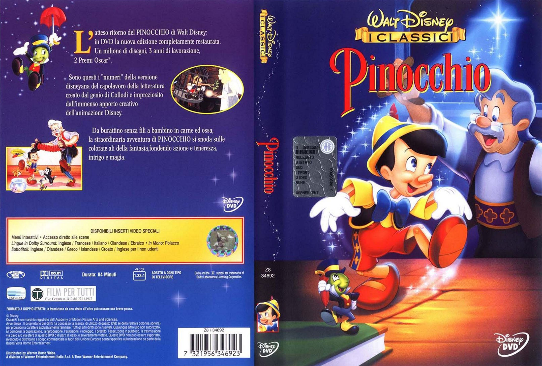 The gallery for gt pinocchio dvd cover