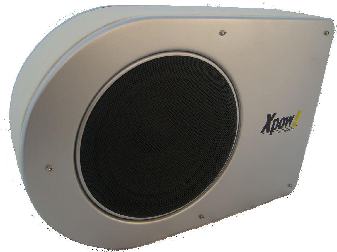 subwoofer auto attivo amplificato flat 900 watt da 20 cm. Black Bedroom Furniture Sets. Home Design Ideas