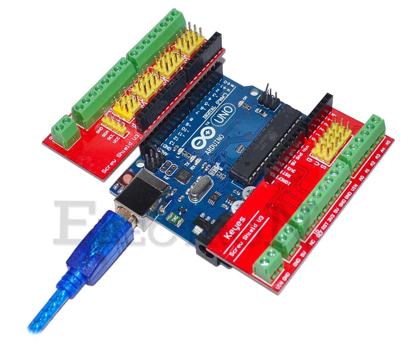 Arduino uno screw shield v sensor prototipe vite