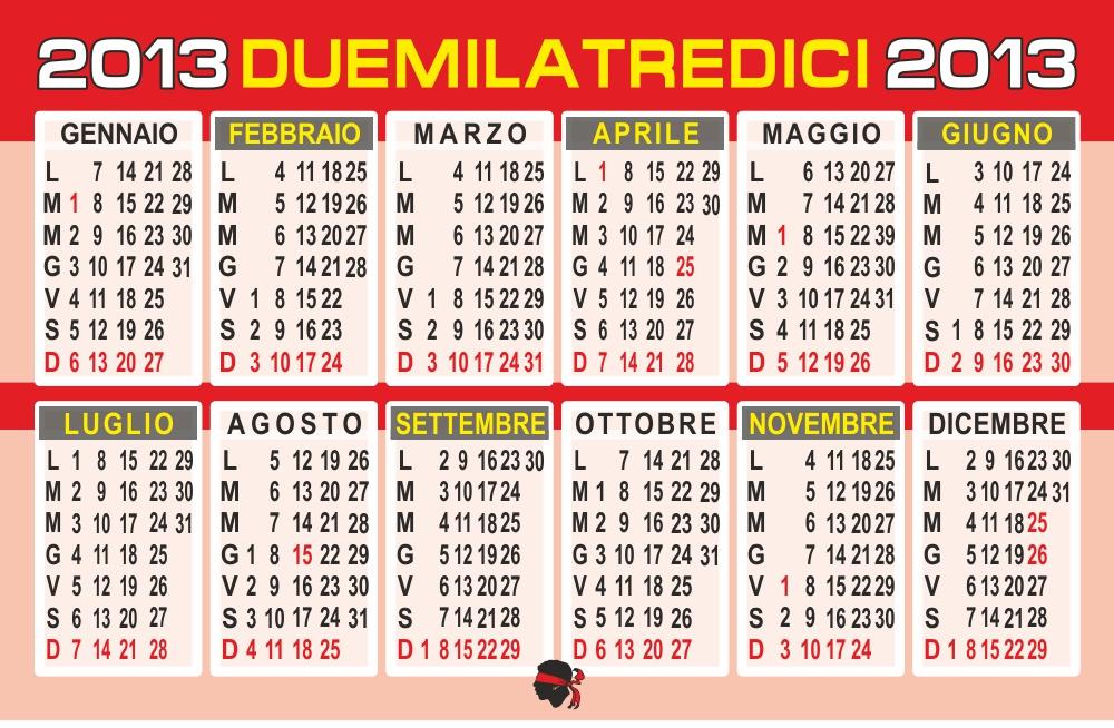 i calendario 2013