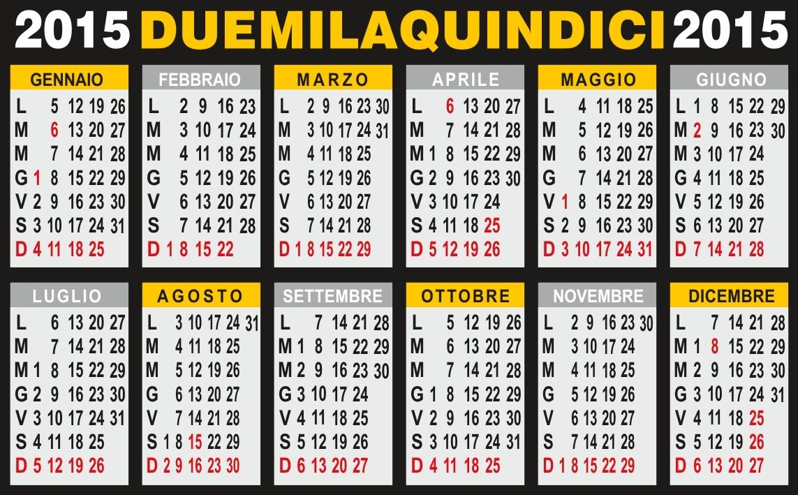 Calendario 2015 annuale for Calendario 2015 ministerio del interior