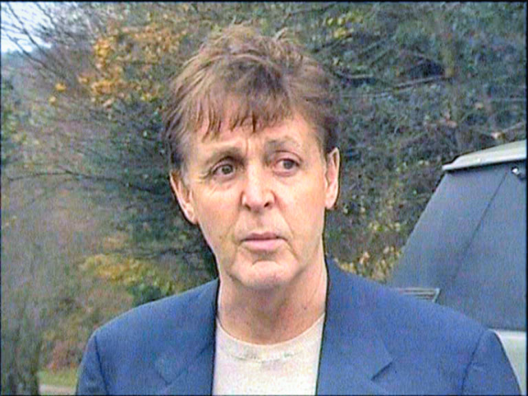 Faux Paul McCartney From A Frame Of The BEATLES THE JOURNEY DVD