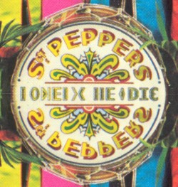 The famous Sgt.Pepper bass drum words