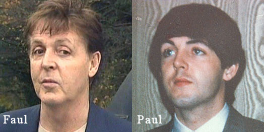 Paul/Faul ear lobe comparison