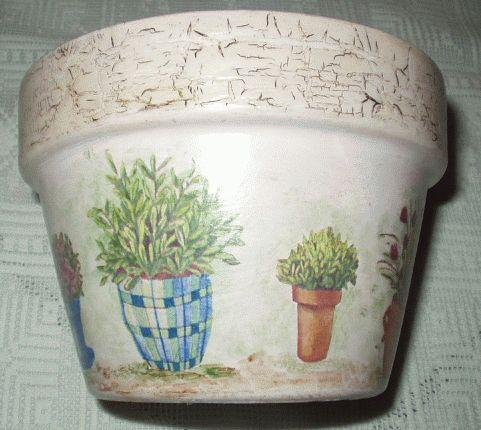 Decoupage for Decoupage su vaso di vetro