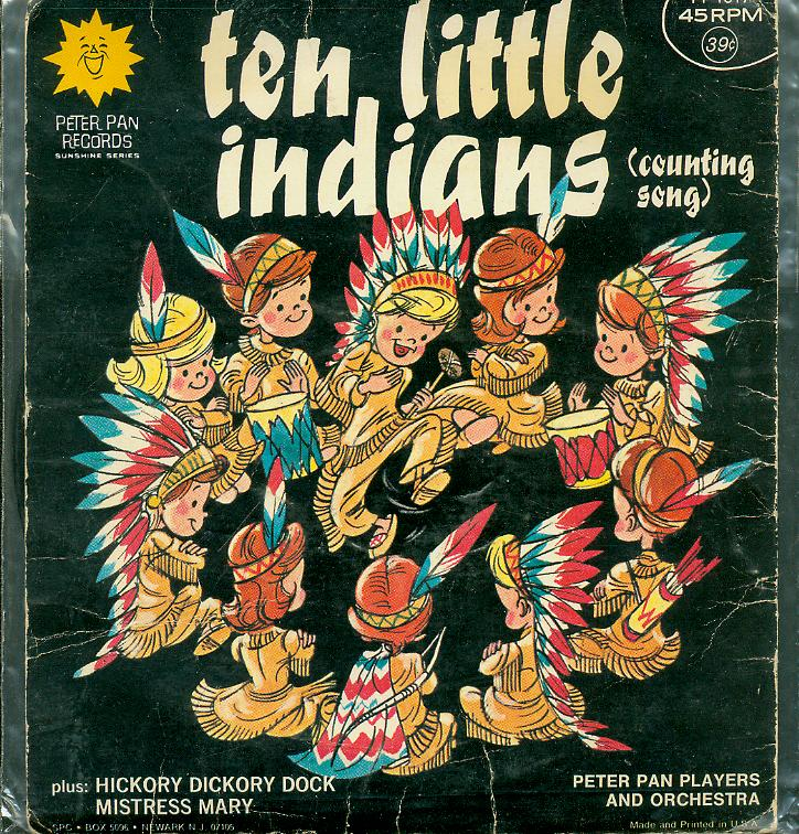 one two three little indians Ten little indians is an american children's rhyme it has a roud folk song index number of 13512 the word indian usually refers to native americans  one little, two little, three little indians four little, five little, six little indians seven little, eight little, nine little indians.