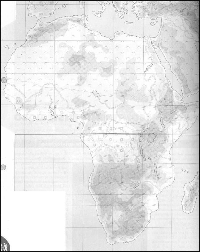 Cartina Dell Africa In Bianco E Nero.Unita