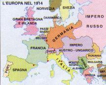 Cartina Politica Europa 1914.Unita