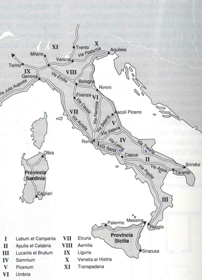 Cartina Italia Romana.Strade Romane In Italia