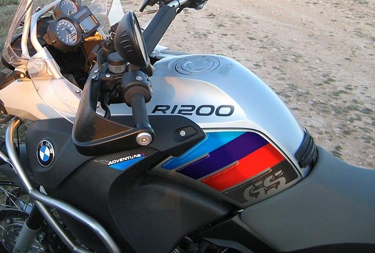 Aufkleber 3D Schutz Seitenlichter Kompatibel mit BMW R 1200 GS 2004-2007