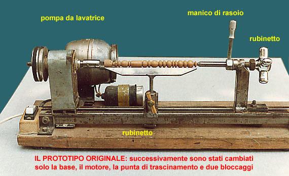 Progetto tornio per legno colonna porta lavatrice for Tornio per legno con copiatore usato