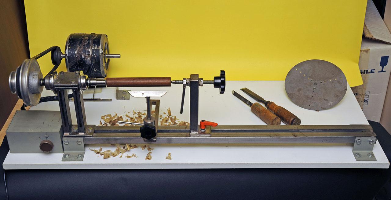 Tornietto per legno - Tornio per legno fatto in casa ...