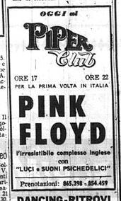 Risultati immagini per pink floyd piper club roma