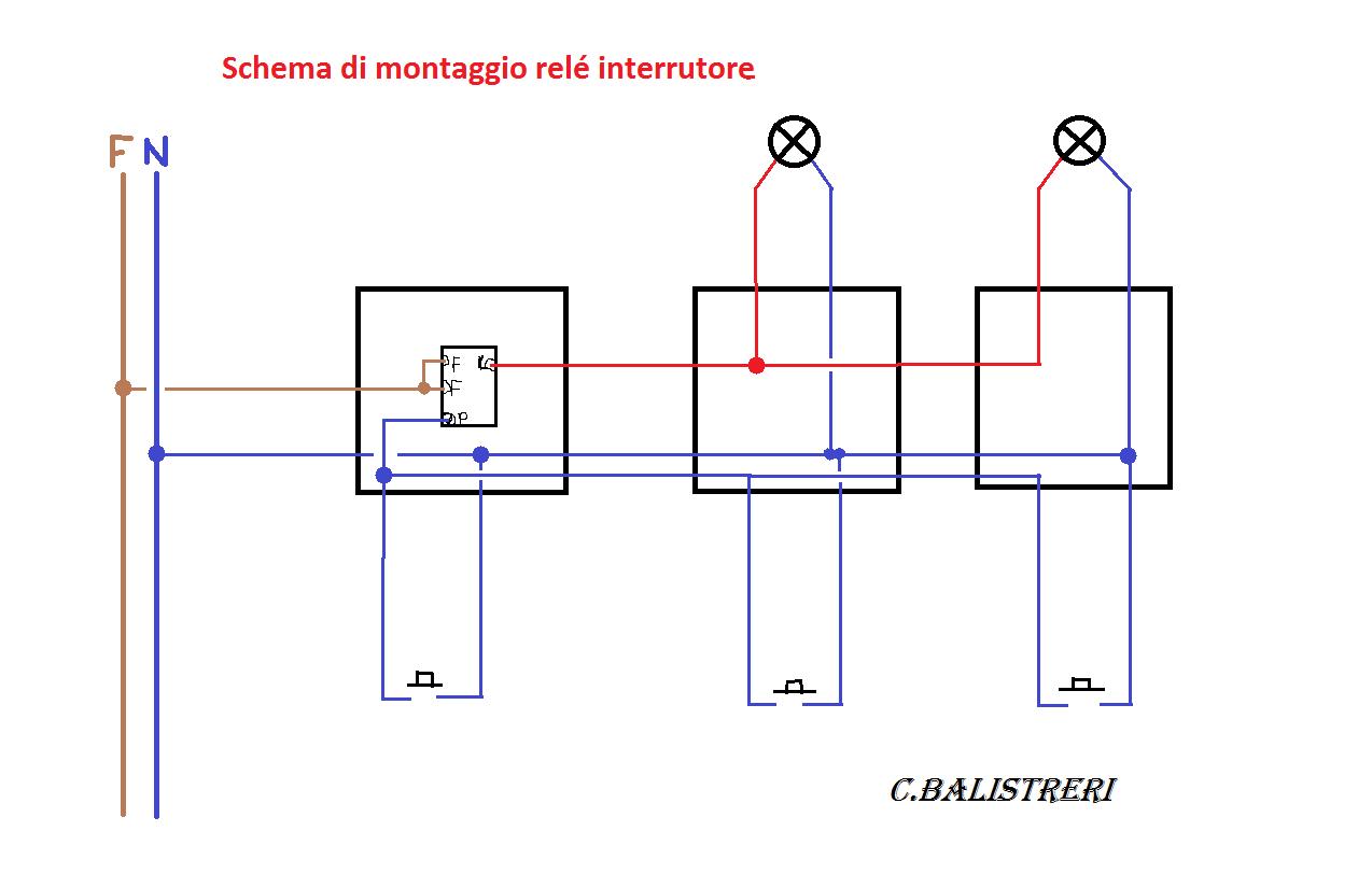 Schema Elettrico Per Deviatori Luci : Schema di principio un circuito elettrico con interruttore
