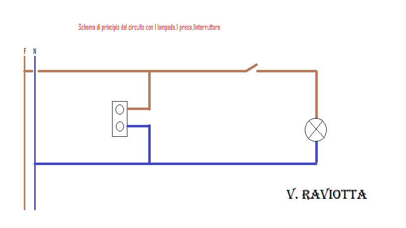 Schemi Elettrici Deviatori Interruttori : Schema elettrico presa interruttore lampadina