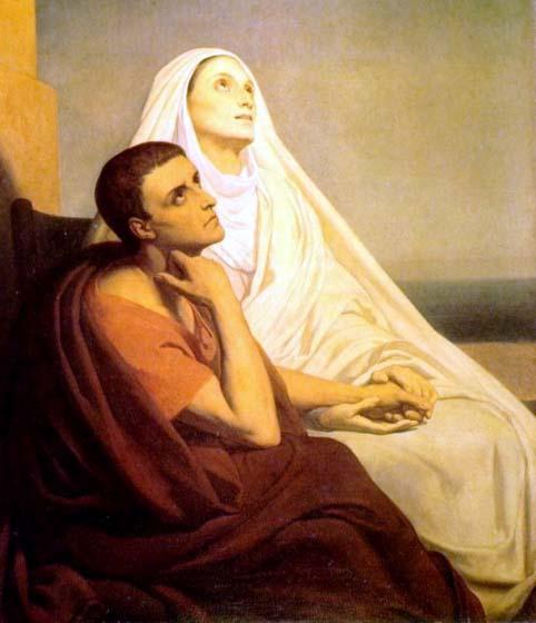 Santa Monica e Sant'Agostino ad Ostia, poco prima della morte di Monica dans immagini sacre SantaMonica