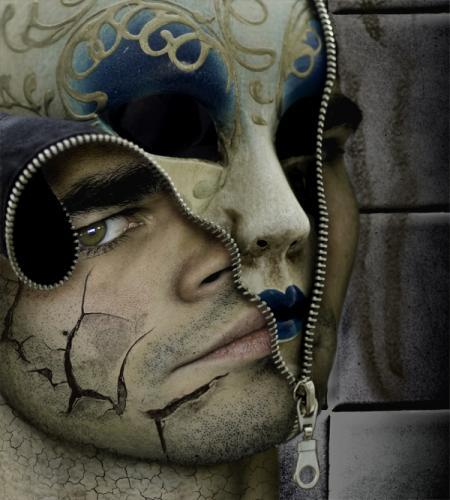 La decolorazione maschera a pelle secca