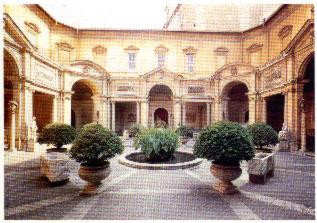 Il giardino del belvedere nella citt del vaticano for Disegni del mazzo del cortile
