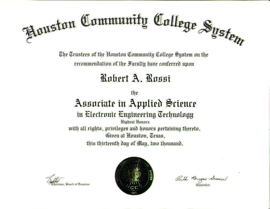 associates degree on resumeawards curt stowell ccaf